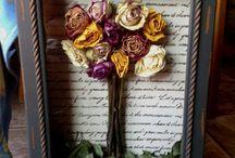 kuru çiçek tasarımı