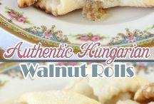 Hungarian walnut rolls