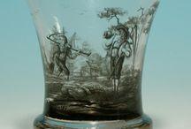 стекло с росписью