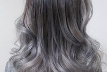 Ombre hair black to grey