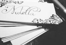 Nutella / Handlettering labels