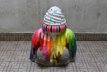 Okuda San Miguel's Vibrant Mural's Jump Off Walls And Take On The Form Of Surreal Sculptures. / Okuda San Miguel's Vibrant Mural's Jump Off Walls And Take On The Form Of Surreal Sculptures.  -----------------------------------------------------------------------------  SULEMAN.RECORD.ARTGALLERY: https://www.facebook.com/media/set/?set=a.400769133466445.1073741956.286950091515017&type=3  Technology Integration In Educati