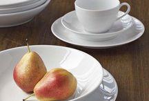 Dinnerware / Casual everyday dinnerware.  White.