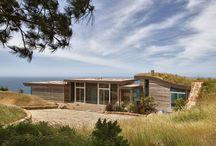 famous grass roof landscape architecture.