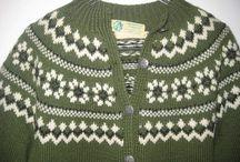 gamle strikket kofter