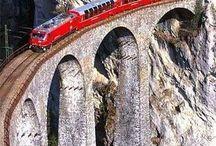 železnice v alpách