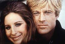 Barbara Streisand & Robert Redford / Barbara Streisand Born on  24th April 1942     Robert Redford Born on  18th August 1936 / by Marilyn Monroe in Colour