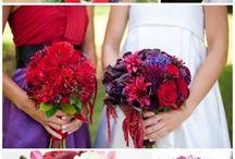 ramo de novia deco rojo violeta