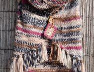 chaleco-poncho con flecos