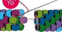 bead crochet, wire work, textile craft