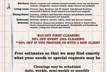 Flyer template for cleaning business