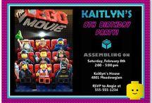 Lego Movie Birthday Party / Lego Movie Birthday Invitations #legomovie #legomovieparty #legomovieinvitations #legomoviepartyideas