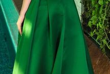 Green wedding outfits