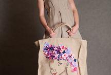 lniane torebki / autorskie lniane torebki
