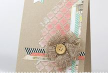 stencil cards and projects / by Mary W. Morning Sun Studio