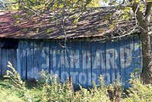 Barns in my area, some with advertising / by Rosanne C