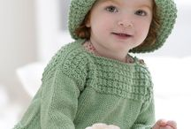 Green sweater and hat set