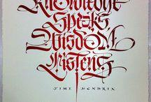 Gothic modern Calligraphy