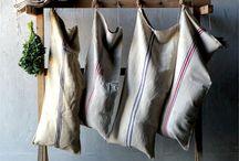 Reused Linen / Reused Linen & Grain Sacks