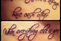 tattoos / by Jessie Ancona