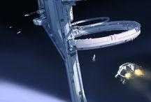 El espacio y naves espaciales