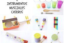 DIY manualidades instrumentos musicales / DIY y manualidades infantiles para hacer instrumentos musicales caseros con material reciclado