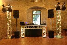 Installations sono & éclairage / Photos d'installations son et lumière réalisées par SonoConcept 56 dans le cadre d'animations de mariages et autres événements en Bretagne.