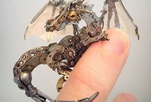 Steampunk sculptures