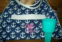Beach Bags / Personalized beach bags monogrammed with your initials or text