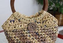 crochet feito de sacos de plastico