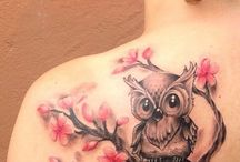 Owl chest tat