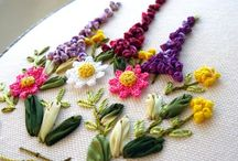 embrodery & silk ribbon  / by Anna Bishop