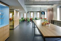 PAF / This office belongs to the gaming company Paf and locates in Mikonkatu, Helsinki. Due to a management change the new design was created in order to support the company's working methods. Interactive workshop, Spatial design, Workplace design, Furniture & Graphic design