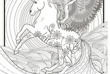 coloring pages: unicorns