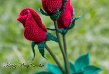 róża  w rynku  i we wzorach  irsh crochet