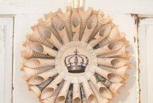 Rolled paper wreaths / rolled paper wreaths, crafts, diy