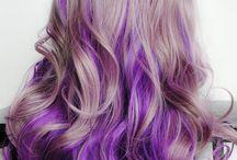 purple ombri hair
