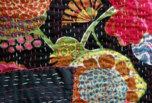 Big Stitch Quilts and Quilting / All kinds of big stitching on fabric