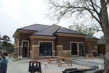 Commercial Buildings and metal roofing / Commercial Buildings with metal roofs