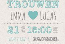 Trouwkaarten Belgie / Nodig uw gasten uit met een stijlvolle trouwkaarten van Koningkaart BE. Verschillende thema's als hip & trendy, klassiek, stoer en retro & vintage, met foto of handgetekend.