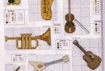 instrumentos y globos