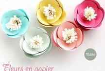 Projets à essayer / Déco fleur en papier