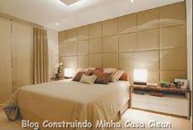 Quartos modernos e sofisticados! / Veja + Inspirações e Dicas de decoração no blog!  www.construindominhacasaclean.com