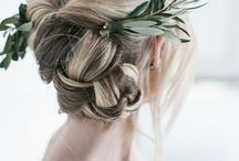 Daniella / Simple, romantic headdress for a super cool industrial wedding in Spain <3