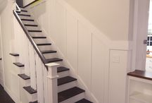 Stairwells / Stairwells, ballisters, handrails, floor treads,  wall colors and wall treatments for walls adjacent to stairwells
