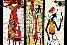African Inspiration / African colours, ideas, patterns and figures I like.