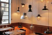 Restaurants Lighting / Plenty of ligting ideas to illuminate your restaurant and create the perfect ambiance.