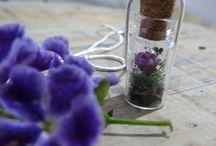 Apoena Acessórios / Acessórios. Pingentes com Flores Naturais.