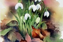 Snowdrops / hóvirág, krókus, nárcisz NATUREART week #10 #natureartegyevenat2017 www.artbyildy.com/natureart free year long inspiration course closed fb group: https://www.facebook.com/groups/Natureartegyevenat2017 Ildy