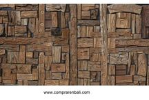 mosaico de madera antigua / mosaico de madera antigua de Indonesia. Interiorismo, diseño, producción y fabricación para hoteles, resort, apartamentos, villas, chalet, restaurantes.por www.comprarenbali.com